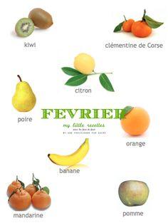 Février : produits de saison, fruits - My Little Recettes