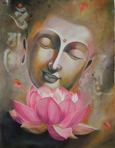 Buy Vipasana artwork number a famous painting by an Indian Artist Arti Naahar. Indian Art Ideas offer contemporary and modern art at reasonable price. Indian Art Paintings, Nature Paintings, Beautiful Paintings, Buddha Artwork, Buddha Painting, Painting Art, Peace Painting, Painting Flowers, Buddha Drawing