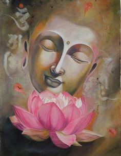 Pink lotus buddha