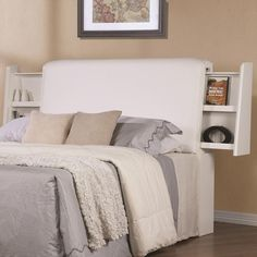 Awesome White Queen Size Headboard Ana Leather