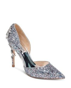 Bride Shoes, Wedding Shoes, Wedding Dresses, Prom Shoes Silver, Badgley Mischka, Exclusive Shoes, Shoe Gallery, Colorful Shoes, Fashion Games