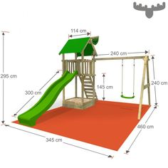MagicMarket Master XXL mit Schaukel-Apfel - Николай Лисин - Dekoration - Wohnkultur - Re-Wilding Kids Backyard Playground, Backyard Playset, Playground Set, Backyard Playhouse, Backyard For Kids, Kids Outdoor Play, Kids Play Area, Kids Yard, Diy Swing