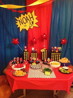Super cute little boy birthday party! Will try!
