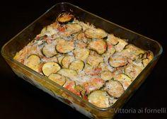 Zucchini and mozzarella gratin, an easy and delicious recipe