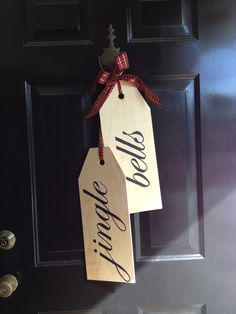 Hand painted door tags! So different and fun for the holidays.