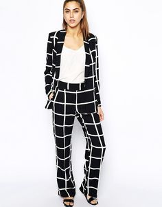 Image 4 of River Island Oversized Grid Print Blazer