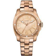 Tommy Hilfiger Watch, Women's Rose Gold Tone Stainless Steel Bracelet 1781141 found on Polyvore L<3VE @ 1st. sight