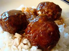 Sweet and Sour Meatballs.  These were Delicious!!!  I was a little skeptical bc they use oatmeal instead of breadcrumbs, but they were flavorful, moist, and perfect!  Even better than the usual sweet & sour with the chili/grape jelly sauce.  Next time, I will double the sauce as recipe suggests to go on rice.