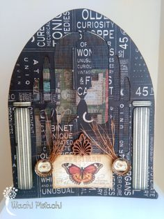 """""""Olde Curiosity Radio"""" with @graphic45   #papercrafting #papercraft #graphic45 #organization #distressinks #timholtz #steampunk #dickens #oldecuriosityshoppe"""