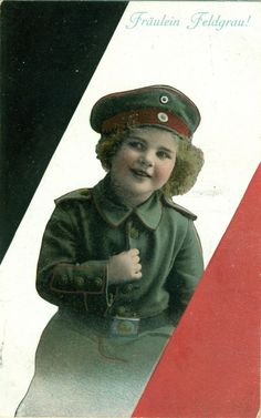 alte Postkarte Feldpost 1.Weltkrieg gelaufen Fräulein Feldgrau