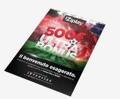 iZiplay - #Advertising su rivista #Milan per Welcome Bonus Scommesse