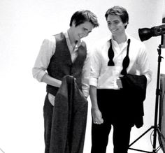 James and Oliver Phelps- A.K.A The Weasley Twins<3 I don't think you can get any better than this...