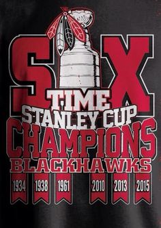 SIX TIME STANLEY CUP CHAMPIONS BLACKHAWKS 30d5dad37