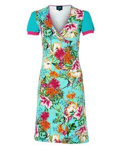Hawaii print jurkje -Tante Betsy.com Dressy Dresses, Cute Dresses, Dress Outfits, Fashion Outfits, Hawaii Dress, King Louie, Got The Look, Dress Skirt, What To Wear