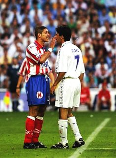 Simeone and Raúl - Real Madrid vs Atlético de Madrid