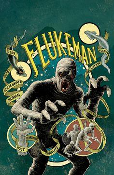 X Files Season 10 FLUKEMAN Variant by cpwilsoniii
