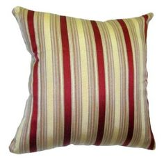 20x20 Burgundy And Gold Stripes Brocade Decorative Throw Pillow Cover If  You Like A Bold And