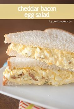 Cheddar Bacon Egg Salad #recipe - perfect for a quick and easy lunch! This egg salad recipe is packed with flavor!
