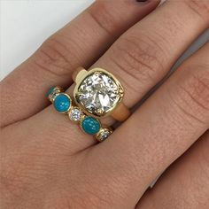 gold and turquoise at Single Stone