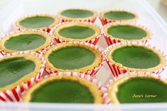 Jane's Corner: 抹茶蛋塔 (matcha egg tarts)