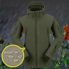 92f8554b55 Stylish Men S Winter Outdoor Hunting Camping Waterproof Army Coat Hoodie  Jacket Outerwear 7 Colors