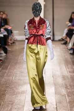 #TBT on Maison Martin Margela's incorporation of the chinese bomber jacket in the Fall 2014, Couture Collection.