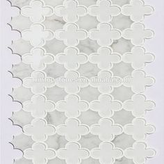 white marble flower patterns mosaic design bathroom floor water jet for floor and