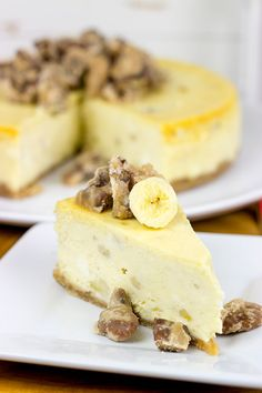 A cross between banana pudding and cheesecake, this Banana Pudding Cheesecake with Crumbled Pralines is the perfect summertime dessert!
