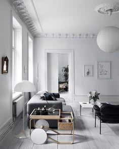 Living Room Scandinavian Study - Tour the Classically Scandinavian Home of Fashion Maven Anna Teurnell.