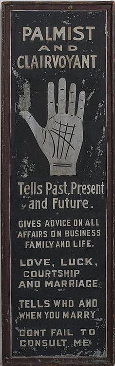 Anonymous Works: Palmist Trade Sign