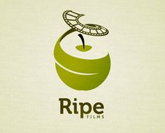 A ripe #apple peeling into a #film strip. Very cool for a #video company.