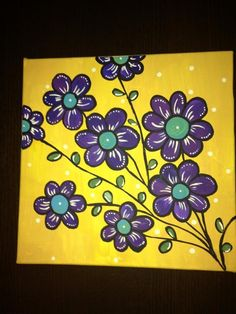 """Acrylic on canvas..""""Gold"""".. Los Angeles Lakers inspired."""
