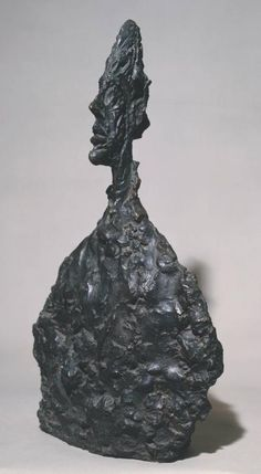 Alberto Giacometti 'Bust of Diego', 1955 From the mid-1950s, Giacometti concentrated on portraiture, repeatedly drawing and sculpting his immediate circle of friends and family. His brother Diego, who sat for this bust, was one of his most frequent models. The flattened head allows Giacometti to accentuate the profile, reminiscent of ancient Egyptian figures, yet also convey the psychological intensity of the face viewed from the front.