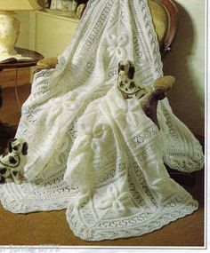 knitting pattern for baby shawl / Cot blanket by NewBabySoon, £1.00