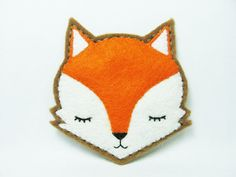 Moody fox felt pin  made to order by hanaletters on Etsy, $16.00