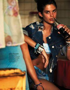 blue and blu: sara sampaio by drew jarrett for elle italia july 2013 #fashion #photography #denim