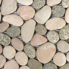 diy pebble tiles Pebble Tiles, Mosaic Tiles, New Kitchen, Kitchen Ideas, Floors And More, Lombok, Shower Floor, Tiling, Tabletop