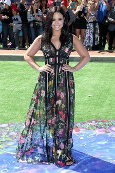 Demi Lovato at Smurfs : The Lost Village premiere in LA