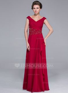 Mother of the Bride Dresses - $148.99 - A-Line/Princess Off-the-Shoulder Floor-Length Chiffon Mother of the Bride Dress With Ruffle Beading (008025701) http://jjshouse.com/A-Line-Princess-Off-The-Shoulder-Floor-Length-Chiffon-Mother-Of-The-Bride-Dress-With-Ruffle-Beading-008025701-g25701?ver=n1ug2t&ves=k41wn
