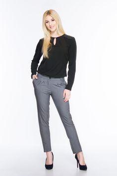 Spodnie rurki SL4007G www.fajne-sukienki.pl Grey, Pants, Fashion, Gray, Trouser Pants, Moda, Fashion Styles, Women's Pants, Women Pants