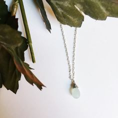 Mint Green Briolette Bead Necklace from Midori Jewelry