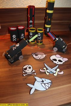 Recycling Basteln - Piratenparty, Kindergeburtstag