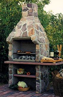 Savannah outdoor fireplace kit allows cooking as well as firewatching.