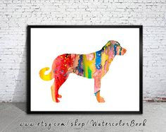 Anatolian Shepherd Watercolor Print, Archival Fine Art Print, Children's Wall, Art Home Decor,dog watercolor,watercolor painting,animal art