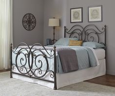 Black and Gold Metal Bed | Brian's Furniture