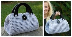This is a stylish handbag to carry on Fridays. It may look very complicated to crochet, but it's easy with this Crochet Casual Friday Handbag Free Pattern.