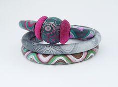 https://flic.kr/p/dn12iT | Polymer clay jewellery | bracelets
