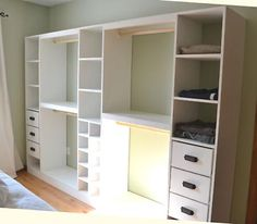 DIY closet plans from Ana-White.com. Build something smaller for my bedroom closet?
