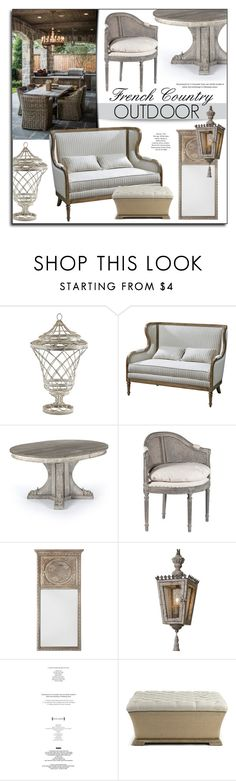 """French Country Outdoor"" by kathykuohome ❤ liked on Polyvore featuring interior, interiors, interior design, home, home decor, interior decorating, Matteo, country, Home and outdoor"