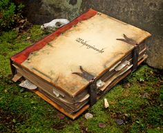 In May I created a prop book for a movie currently in production. I've designed and created props for some big Hollywood blockbusters over the years, but this is decidedly not one of those, t… Witchcraft Books, Halloween Books, Halloween Tags, Practical Magic, Leather Books, Movie Props, Handmade Books, Handmade Journals, Old Books